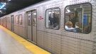 TTC passengers on the Yonge-University-Spadina line are seen in this undated file photo.