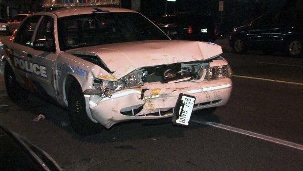 Police officers injured after cruiser crash