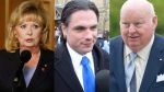 Left to right, Sen. Pamela Wallin, Sen. Patrick Brazeau, and Sen. Mike Duffy are shown in this combination photo. (Patrick Doyle / Adrian Wyld / THE CANADIAN PRESS)