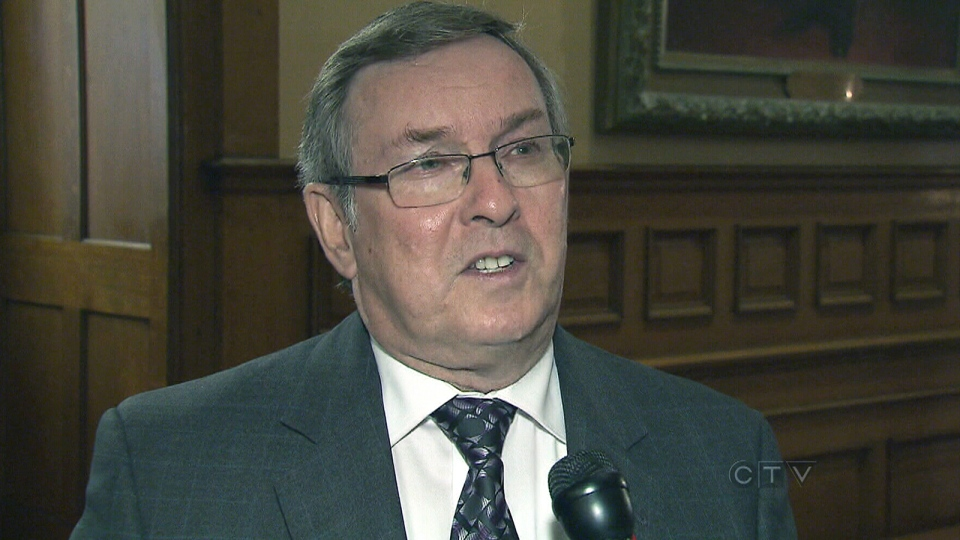 Ontario Environment Minister Jim Bradley speaks to CTV News, at Queen's Park in Toronto, Monday, Oct. 28, 2013.
