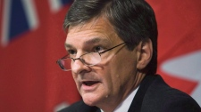 Attorney General Chris Bentley speaks during a press conference in Toronto on Oct. 1, 2008. (Nathan Denette / THE CANADIAN PRESS)