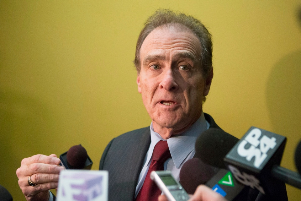 Toronto Deputy Mayor Norm Kelly makes a statement to the media at Toronto's city hall after the release of a video featuring the Mayor Rob Ford on Thursday, Nov. 7, 2013. (Chris Young / THE CANADIAN PRESS)