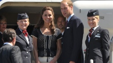 Prince William and Kate, the Duke and Duchess of Cambridge, prepare for their departure at Los Angeles International Airport on Sunday, July 10, 2011, in Los Angeles. (AP / John Shearer, Pool)