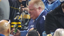 Beer can thrown at Mayor Rob Ford