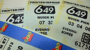 Lotto 6-49 tickets are shown in Toronto in a recent photo. (Richard Plume / THE CANADIAN PRESS)