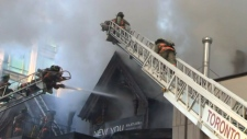 Firefighters battle blaze in Yorkville