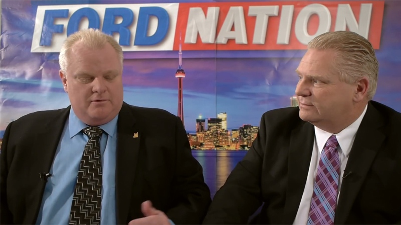 Rob and Doug Ford appear in their new YouTube edition of 'Ford Nation' (YouTube / officialfordnation)