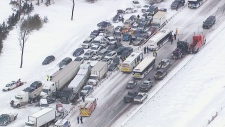 Pileup on Highway 400 near Barrie, Ont.
