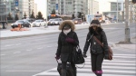 A wind chill warning from Environment Canada has ended, but an extreme weather alert is still in effect as Toronto-area residents battle the bitter cold, Friday, Feb. 28, 2014.