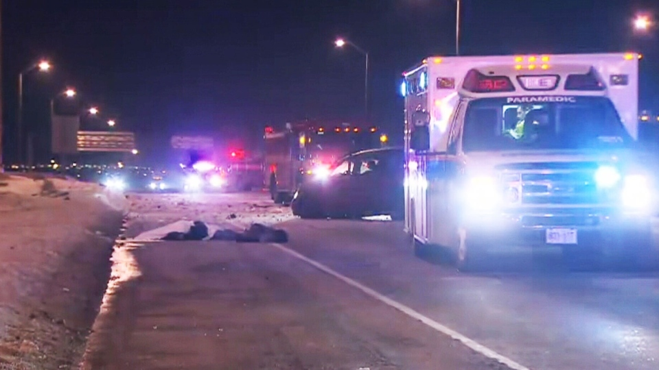 A fatal crash on Hwy. 427 claims life of Toronto man on Thursday, March 6, 2014.