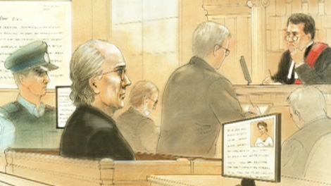Giovanni Palumbo appears in a Toronto courtroom in this court sketch image on Thursday, Sept. 29, 2011.