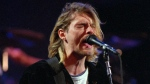 Kurt Cobain of the Seattle band Nirvana performing in Seattle, Wash. on Dec. 13, 1993. (AP / Robert Sorbo)