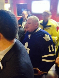 Rob Ford attends Leafs game