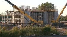 Construction continued on Monday, Oct. 24, 2011 at a Mississauga natural gas-fired power plant that is supposed to be moved.