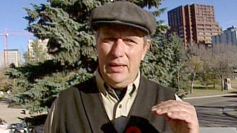 Michael Schmidt is seen speaking to the media in this undated image taken from video.