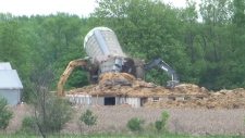 Trenton, Ont. farm being demolished