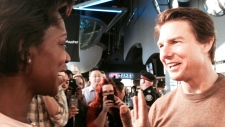 Tom Cruise walks Toronto red carpet