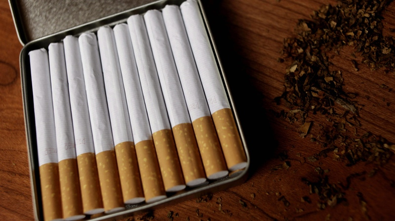 Cigarettes are seen in this Sunday, Nov. 20, 2011 file photo. (AP Photo/Seth Wenig)