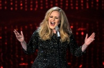 """Adele performing """"Skyfall"""" during the Oscars at the Dolby Theatre in Los Angeles, Feb. 24, 2013. (AP / Chris Pizzello)"""