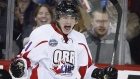 Team Orr's Brendan Lemieux celebrates his goal against Team Cherry during second period CHL Top Prospects hockey action in Calgary, Alta., Wednesday, Jan. 15, 2014. (Jeff McIntosh  / THE CANADIAN PRESS)