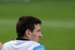 Argentina's Lionel Messi sits during a training session in Vespesiano, near Belo Horizonte, Brazil, on Thursday, July 10, 2014. (AP Photo/Victor R. Caivano)