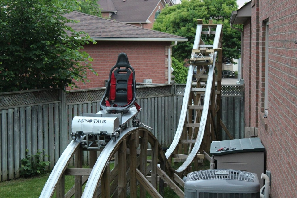 Backyard Roller Coaster Plans : Thornhill, Ont, has built a homemade rollercoaster in his backyard