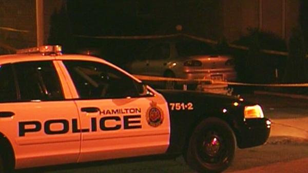 A Hamilton police car.