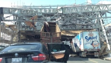 Scaffolding collapse on Burlington Skyway