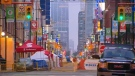 A section of Yonge Street is closed off for Buskerfest on Friday, Aug. 22, 2014.