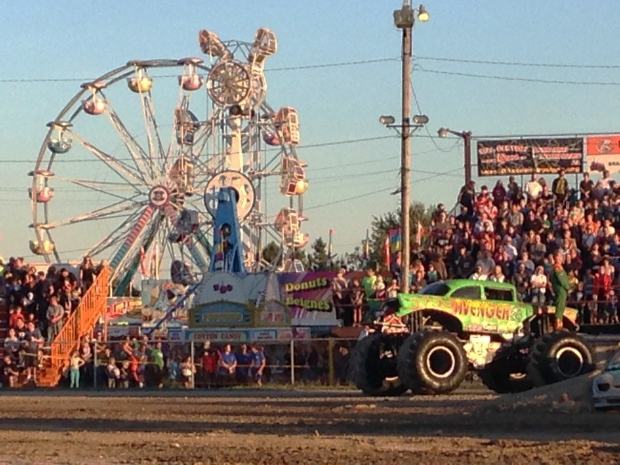 Monster trucks and a midway were two of the highlights as the 2014 Paris Fair kicked off on Thursday, Aug. 28, 2014. (Phil Molto / CTV Kitchener)