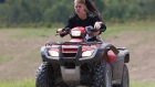 Justin Bieber and Selena Gomez ride an ATV in the Township of Perth near his hometown of Stratford, Ont. (etalk)