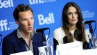 "Benedict Cumberbatch, left, and Keira Knightley attend the press conference for ""The Imitation Game"" on day 6 of the Toronto International Film Festival at the TIFF Bell Lightbox on Tuesday, Sept. 9, 2014, in Toronto. (Photo by Evan Agostini/Invision/AP)"