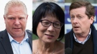 Toronto mayoral candidates, left to right, Doug Ford, Olivia Chow and John Tory in a combination photo. (Aaron Vincent Elkaim / Chris Young / Peter Redman / THE CANADIAN PRESS)
