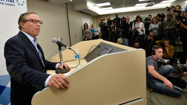 Dr. Zane Cohen gives an update of Toronto Mayor Rob Ford's condition during a news conference at Mount Sinai Hospital in Toronto, Wednesday, Sept.17, 2014. (Nathan Denette / THE CANADIAN PRESS)