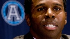 Mike (Pinball) Clemons speaks at a news conference in Toronto, Tuesday Dec. 4, 2007. (Adrian Wyld / THE CANADIAN PRESS)