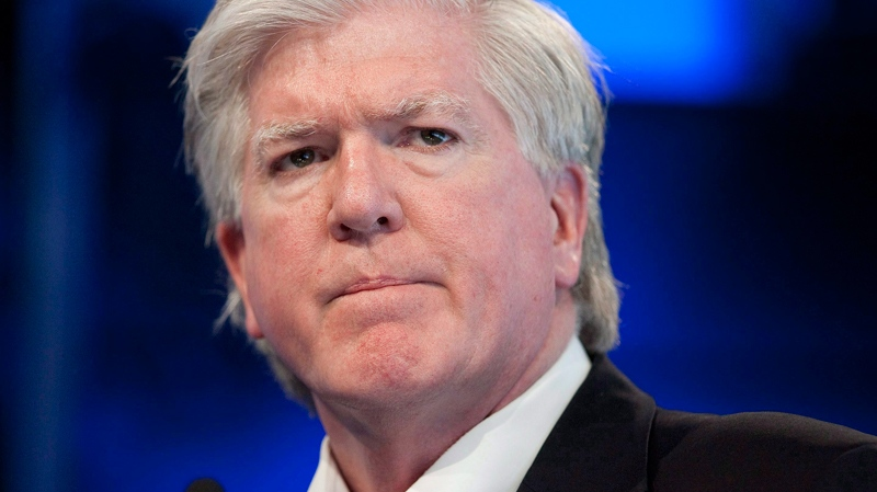 Toronto Maple Leafs General Manager Brian Burke speaks at a year end press briefing in Toronto on Tuesday April 12, 2011. (Chris Young / THE CANADIAN PRESS)
