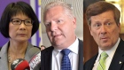 Olivia Chow, Doug Ford and John Tory are shown in this composite photo. (THE CANADIAN PRESS)