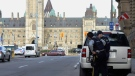Police secure an area around Parliament Hill in Ottawa on Wednesday Oct.22, 2014. (THE CANADIAN PRESS / Adrian Wyld)