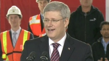 Prime Minister Stephen Harper speaks in Toronto, Friday, March 9, 2012.