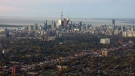 The Toronto skyline is seen from the CTV News helicopter on Friday, Oct. 24, 2014.