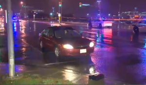 A male pedestrian has been rushed to hospital with serious facial injuries after being struck by a vehicle in Mississauga Friday night.