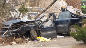 Tragedy in Montreal: Two dead, three wounded in car crash early Saturday morning