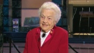 Hazel McCallion appears on CTV's Canada AM from her office in Mississauga on Wednesday, Nov. 26, 2014.
