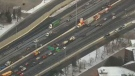Traffic builds in Toronto early Friday morning, Nov. 28, 2014.