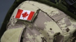 A Canadian flag is shown on a soldier's shoulder in this file photo. (THE CANADIAN PRESS/Lars Hagberg)