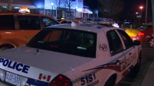 Police investigate after a a man in his 20s was shot three times during a hip hop concert at the Sound Academy on Polson Pier in the city's Port Lands on Thursday, April 5, 2012.