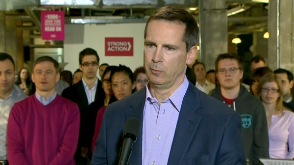 Premier Dalton McGuinty speaks about a possible Bunny Ranch brothel in Ontario, on Tuesday, April 17, 2012.