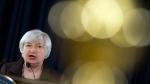 Federal Reserve Chair Janet Yellen makes a statement on jobs and economic outlook, Wednesday, Dec. 17, 2014, at the Federal Reserve in Washington. The U.S. economy is finally doing better, and the Federal Reserve may be ready to acknowledge that fact. (AP/Cliff Owen)