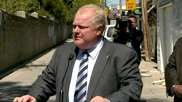 Toronto Mayor Rob Ford speaks about Pride, Wednesday, April 18, 2012.