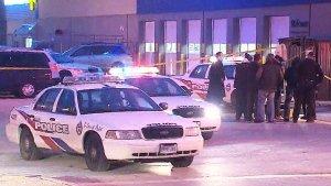 The scene at the Agincourt Mall where a man was shot on Thursday, Dec. 18, 2014.